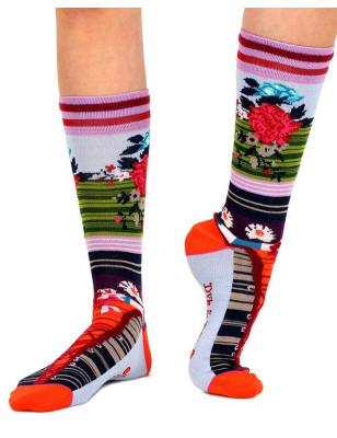 Chaussettes à fleurs Dub et Drino Laçage