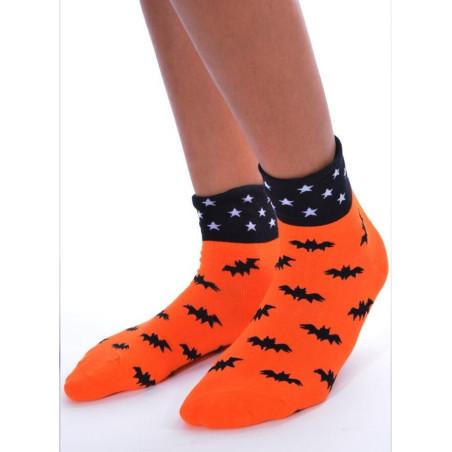 Chaussettes D'halloween orange batman