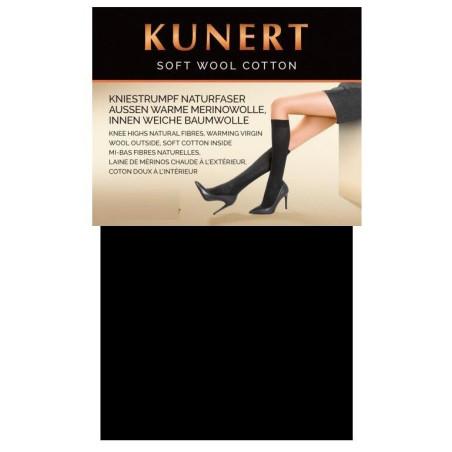 Mi bas Kunert Laine et coton noir