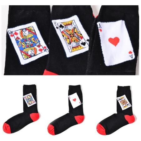 Coffret de chaussettes de cartes à jouer