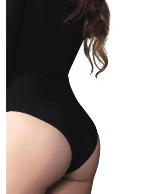 Body Manches Longues Leg Avenue noir détail-dos