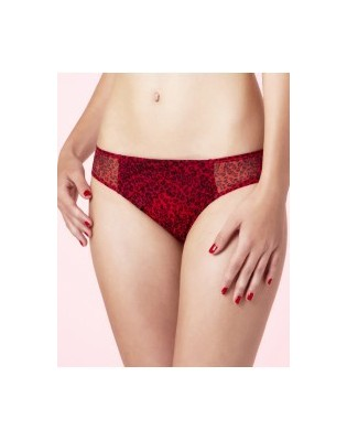 Slip Chantal Thomass Encense moi Leopard Rouge
