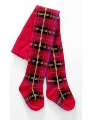 Collant enfant coton motif ecossais