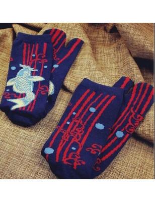 Chaussettes Tabi Japonaises Carpe argentée