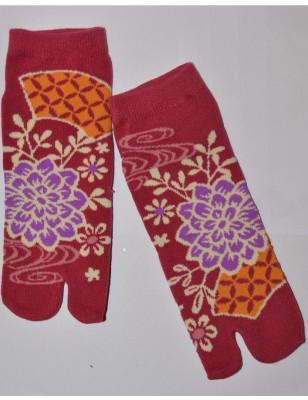 Chaussettes japonaise Bouquet psychédéliques