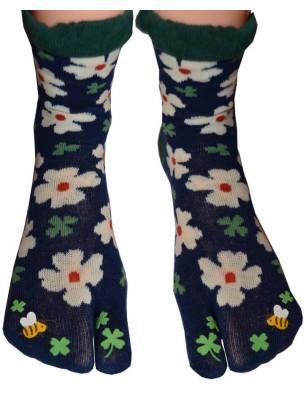 Chaussettes Japonaises fleurs de lotus