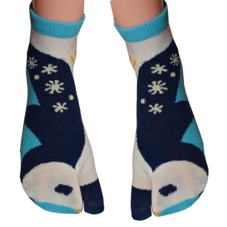 Chaussettes japonaises tabi petits pingoins
