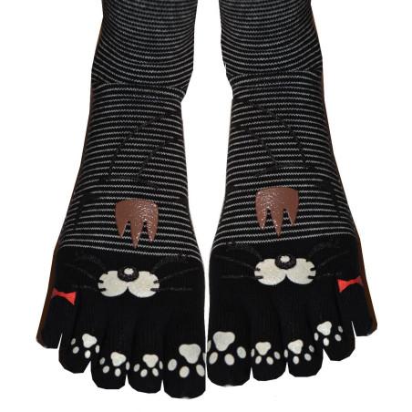 Chaussettes Japonaises 5 doigts chats Rigolos Rayures