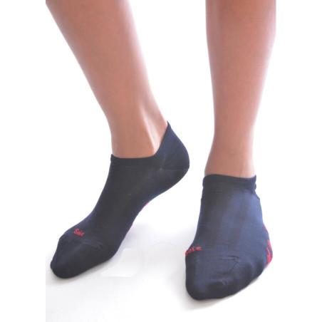 Socquette Berthe aux grands pieds en soie MARINE