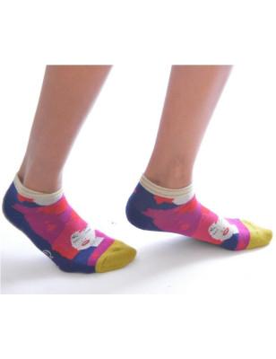 Socquette Berthe aux grands pieds sport la rouquine