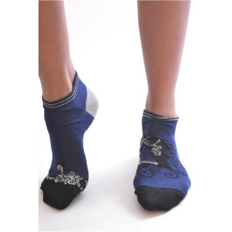 Socquette Berthe aux grands pieds Fil cadre noire