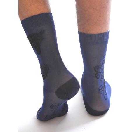 Chaussettes Berthe aux grands pieds Fil cadre noire