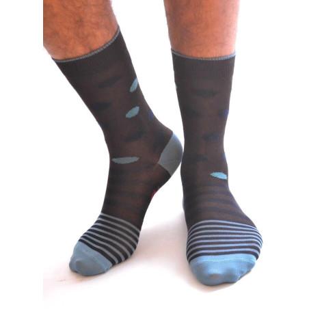 Chaussettes Berthe aux grands pieds Fil Rayures et pois