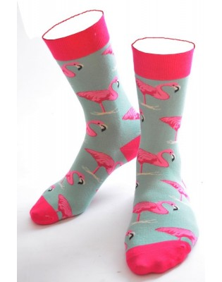 Chaussettes Flamant Roses Turquoise
