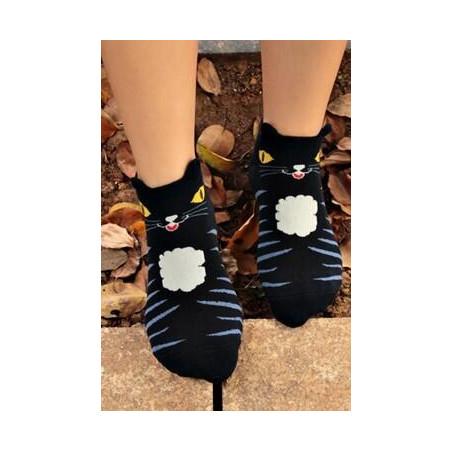 Socquettes Chats rigolos chat de la nuit av