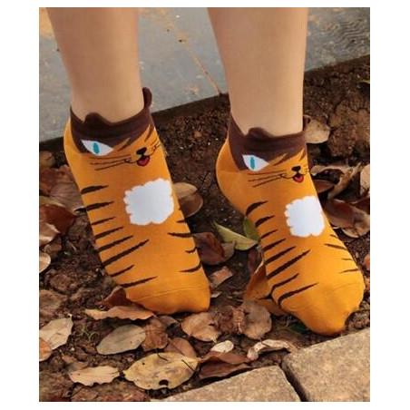 Socquettes Chats rigolos chat léopard