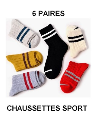 Lot de 6 paires chaussettes Sports