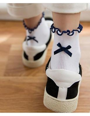 Chaussettes Sans compression noeud pap Blanches