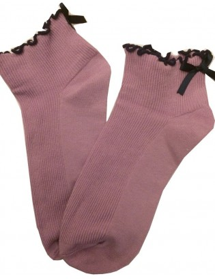 Chaussettes Sans compression noeud pap parme