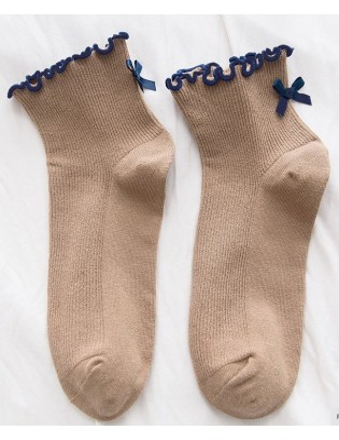 Chaussettes Sans compression noeud pap taupe
