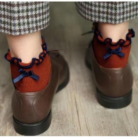 Chaussettes Sans compression noeud pap Orange