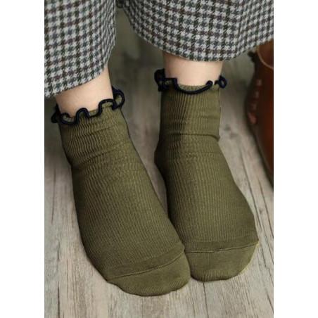 Chaussettes Sans compression noeud pap kaki
