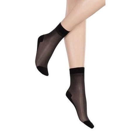 Chaussettes en lycra à semelles coton Clio