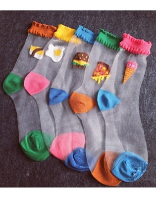 Chaussettes Brunch Trompe L'oeil assorties