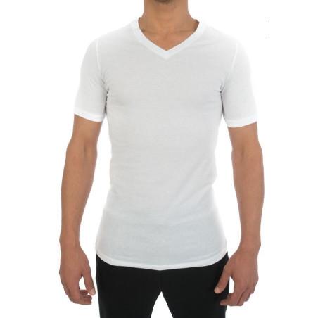 Lot de 2 T Shirt col V Pur Coton Hom