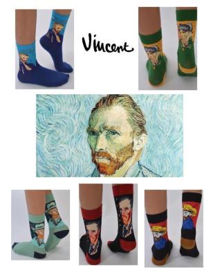 Chaussettes portrait de Van Gogh