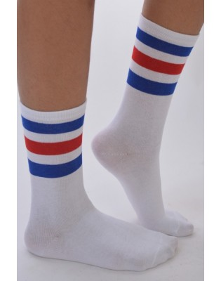Chaussettes sports Rayures Tricolores tendance