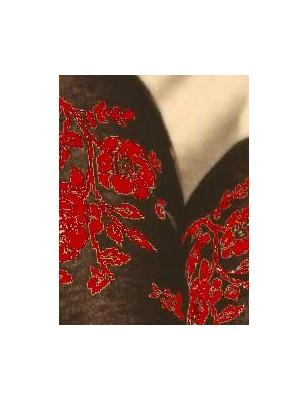Collant coton chaud Cronert Fleuris