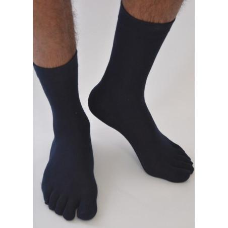 Chaussettes 5 doigts unies Homme noires