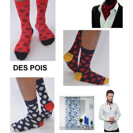 Chaussettes Gros Pois bicolores