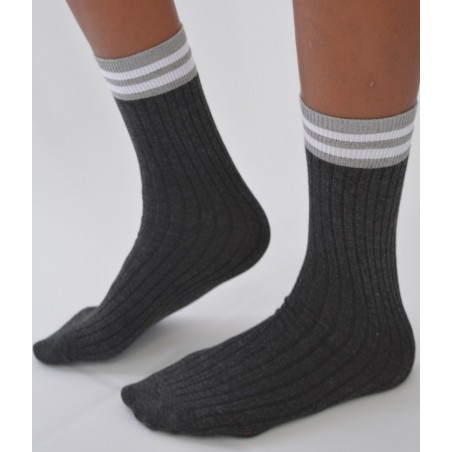Chaussettes rayures bandes chics
