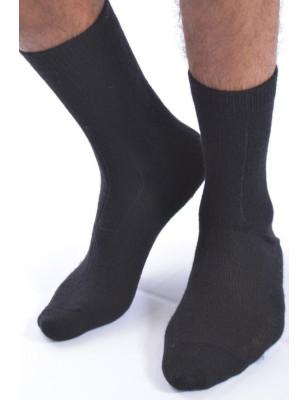 Chaussettes douces et chaudes noires Laine et cachemire Fil de jour Homme