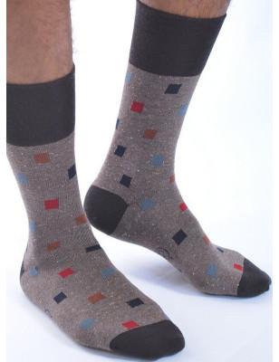 Chaussettes Berthe hiver homme cubes chic