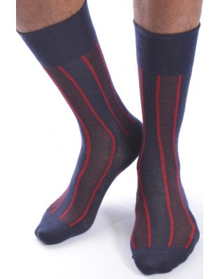 Chaussettes Berthe hiver homme chic Rayures