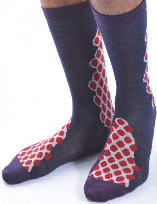 Chaussettes berthe aux grands pieds grappe de pois