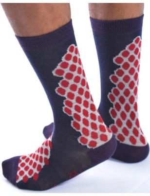 Chaussettes berthe aux grands pieds grappe de pois homme