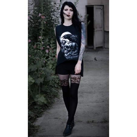 Collant Cuissarde Dragon Gothique Pamela Mann