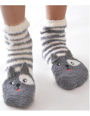 Chausson polaire chat de gouttière