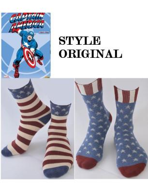 Chaussettes Cap'Taine america style Originale