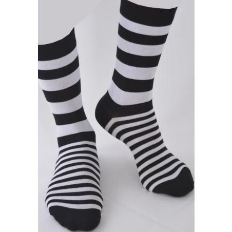 Chaussettes rayures Noires et blancs