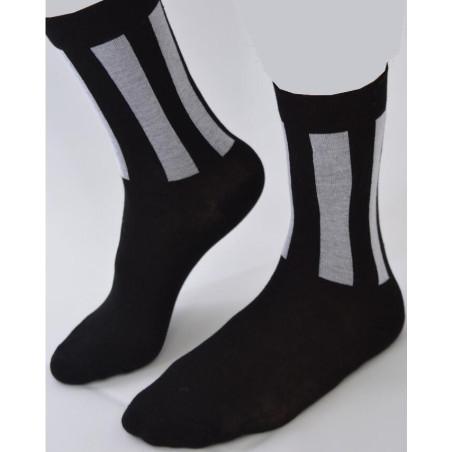 Chaussettes rectangles Noires blancs
