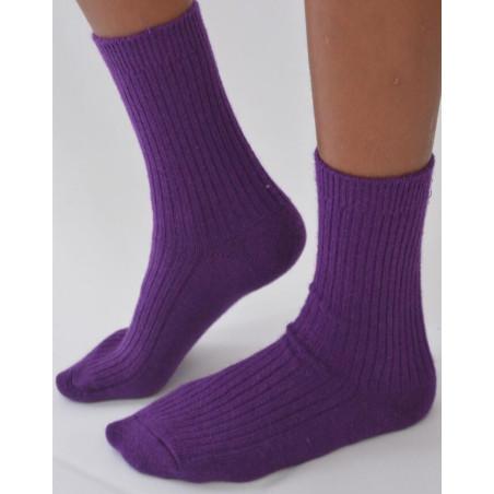 Chaussettes Chaudes Laine Angora violet