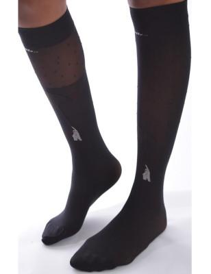 Chaussettes  asymétrique Parapluie noires Berthe aux Gands Pieds
