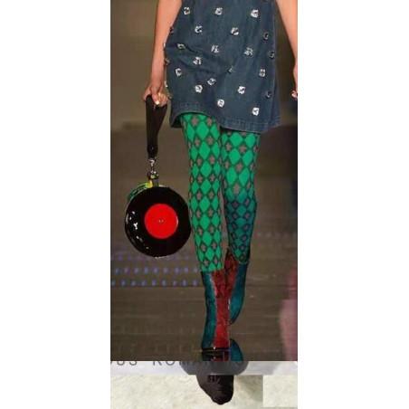 Collant red stars imprimé vert