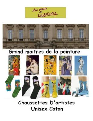 Coffret Chaussettes tableaux  de Maitres Unisex