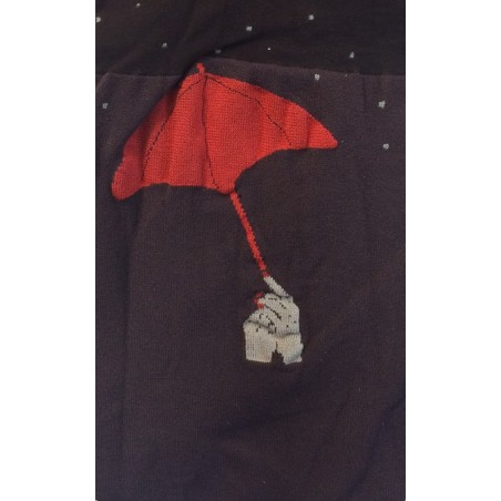 Collant Parapluie chic de Berthe aux grands pieds bordeau
